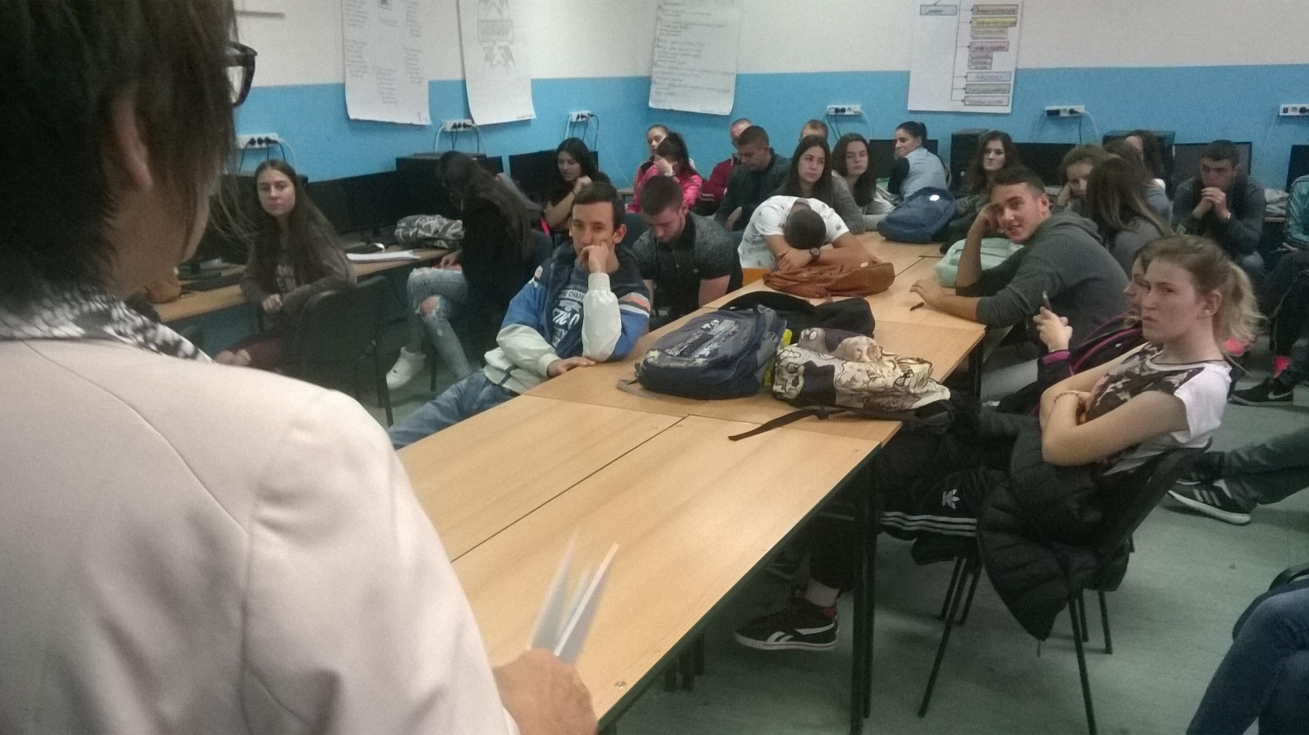 Info sesija u Tehničkoj školi u Lebanu